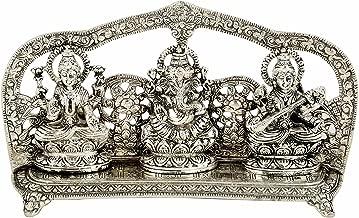 silver plated lakshmi ganesh idols