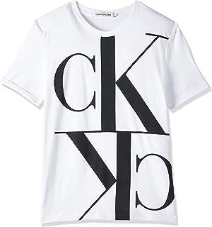 Calvin Klein Women's MIRRORED MONOGRAM STRAIGHT S/S T-Shirt
