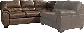 Ashley Furniture Signature Design - Bladen Contemporary Left Arm Facing Sofa - Sectional Component ONLY - Coffee