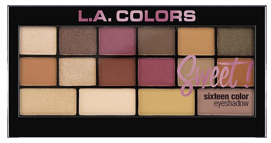 スクラップブック救出規模L.A. Colors Sweet! 16 Color Eyeshadow Palette - Brave (並行輸入品)