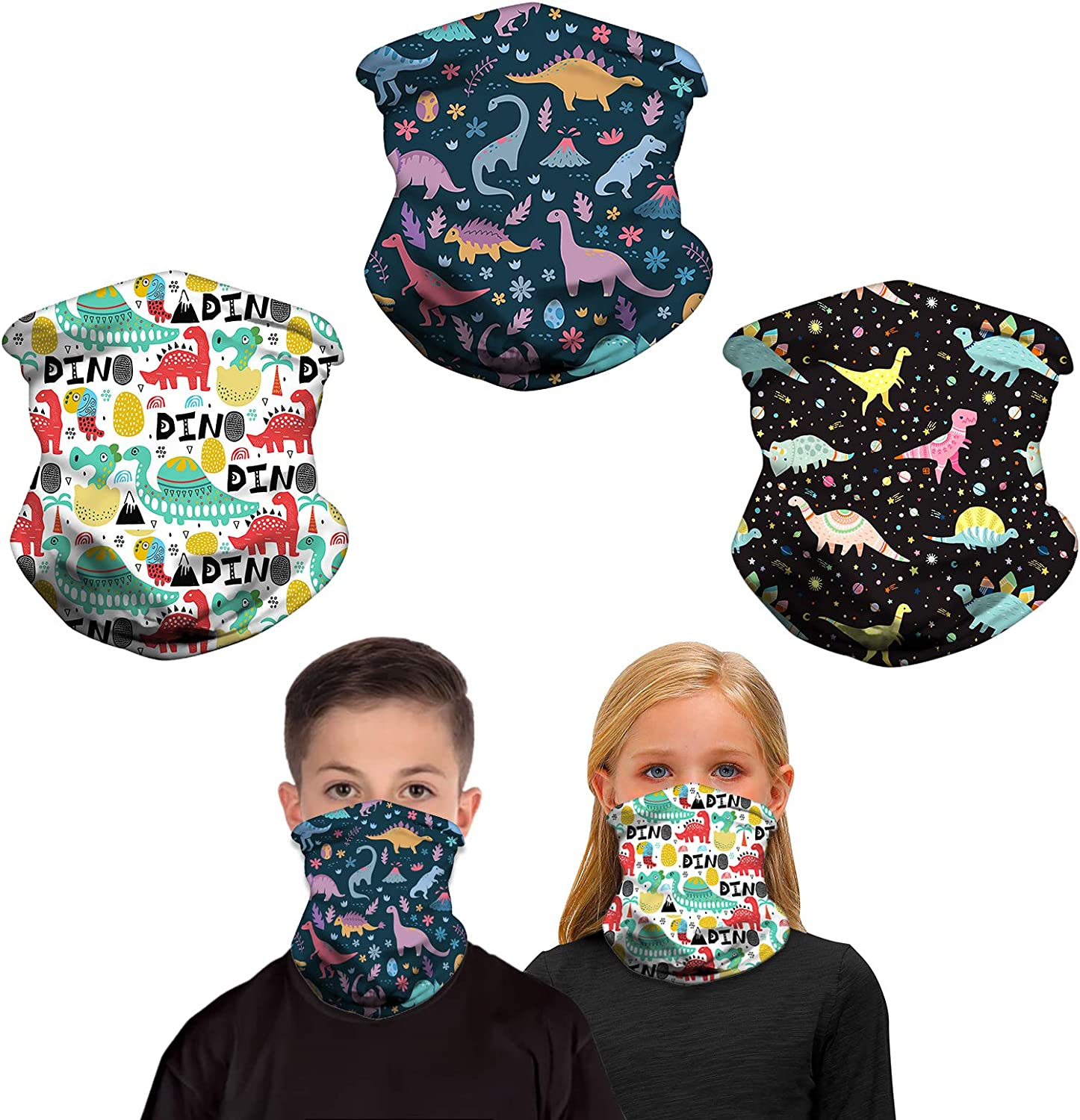 Recommended Kids Neck Gaiter - 3PACK Years Girls Dallas Mall Boys 6-13