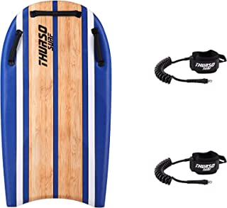 THURSO SURF DuoSlider 45`` Bodyboard with Handles Two Person EPS Core IXPE Deck HDPE Slick Bottom Includes Two PRO Double Swivels Bodyboard Leashes