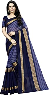 KSH Trendz Cotton Blend Art Silk Saree With Blouse Ideal For Women & Girls (25 DESIGNS AND PRINTS)