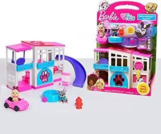 Barbie Pet Dreamhouse 2-Sided Playset, 10-pieces Include...