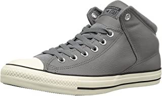 Converse Womens 149426C Street Leather High Top Black Size: