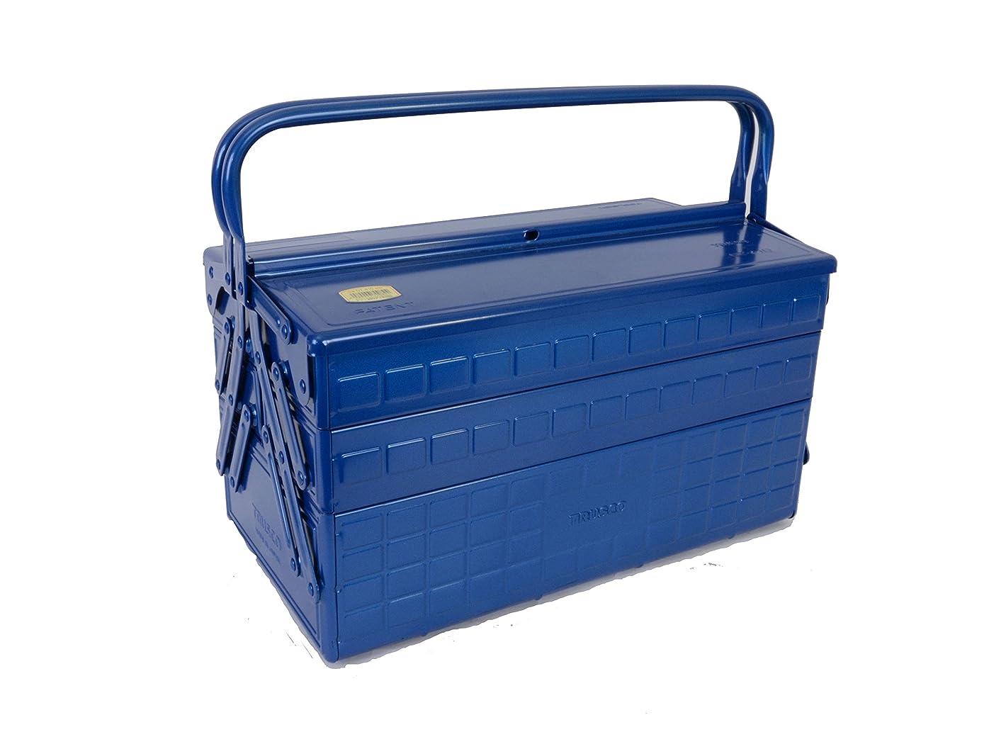 広範囲好み予測するTRUSCO(トラスコ) 3段式工具箱 412X220X343 ブルー GT-410-B