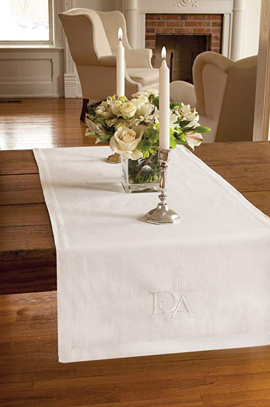 Heritage Lace Downton Abbey Downton Table Runner White 18 By 54 Inch