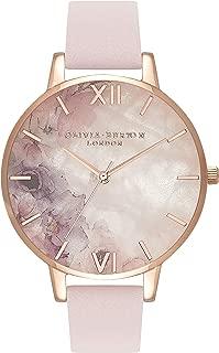 Olivia Burton Womens Quartz Watch, Analog Display and Leather Strap OB16SP03