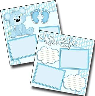 It's a Boy - Bear - Premade Scrapbook Pages - EZ Layout 3806