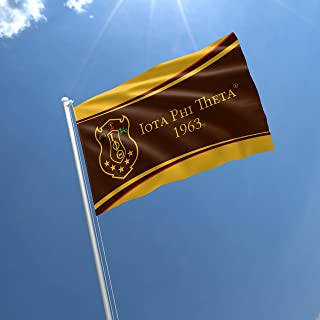 greeklife.store Iota Phi Theta Licensed Flag 3x5 Feet for Home, Business, Basement, Garage. Durable 100% Polyester, Metal Grommets for Hanging, Printed on Demand