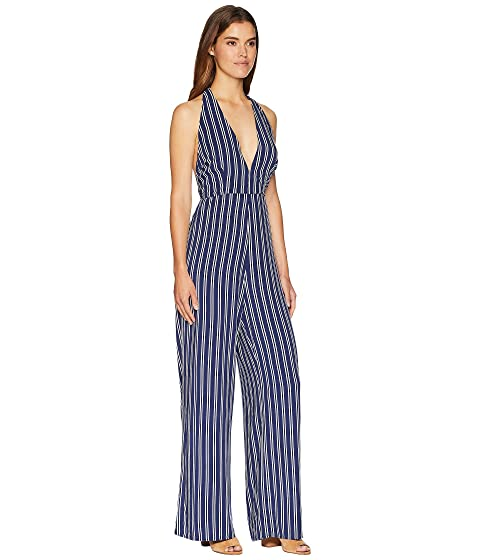 Outlet Popular Jack by BB Dakota All The Way Up Striped Rayon Challis Jumpsuit Dark Blue Buy Online Outlet 2018 Unisex Sale Online For Sale Free Shipping Discount Get Authentic uR2surMOF