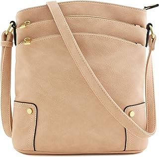 2a7dd51760 Triple Zip Pocket Large Crossbody Bag