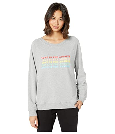 Spiritual Gangster Gemma Long Sweatshirt (Medium Heather Grey) Women