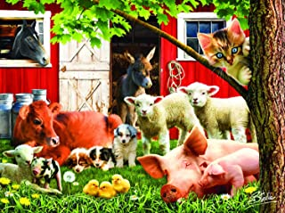 SUNSOUT INC Lazy Afternoon on The Farm 300 pc Jigsaw Puzzle