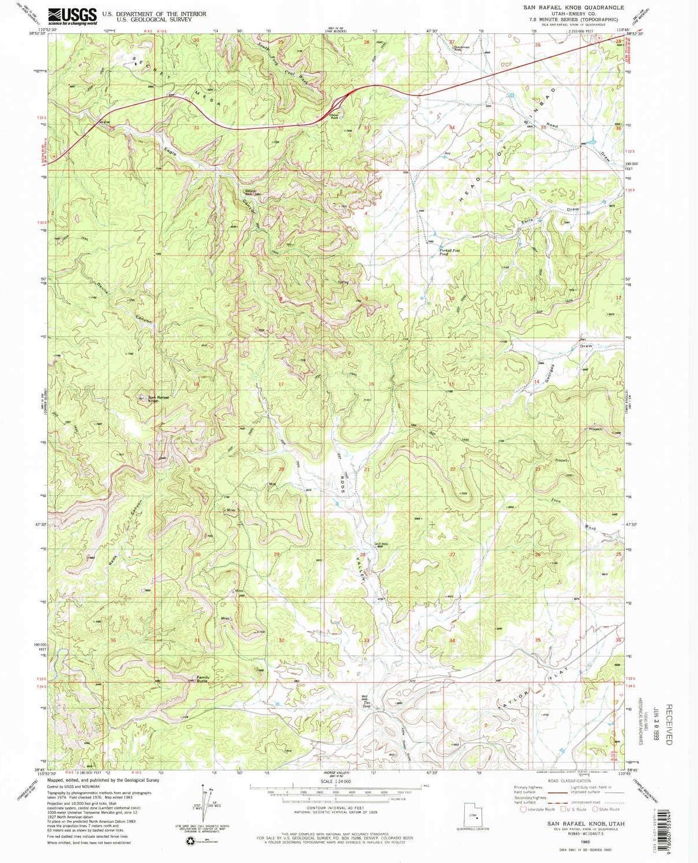 YellowMaps San Rafael Max 86% OFF Knob UT topo 7.5 1:24000 map Austin Mall X Scale