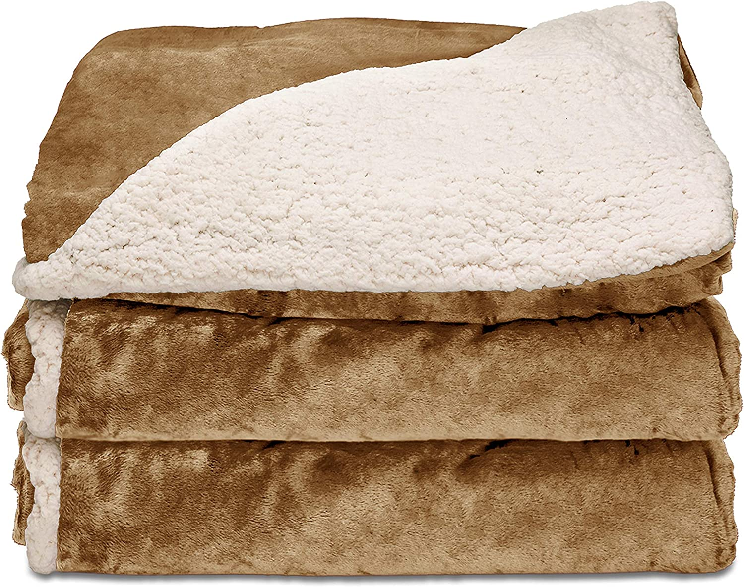 Sunbeam Heated Throw Blanket Reversible Mink H Popular products Sherpa specialty shop 3 Royal