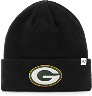 NFL Green Bay Packers '47 Raised Cuff Knit Hat, Black, One Size