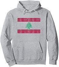 Retro Lebanese Flag Of Lebanon Souvenir Gift Men Women Pullover Hoodie