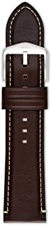 Fossil Men's 24mm Leather Watch Band, Color: Dark Brown (Model: S241083)