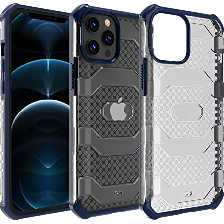 Restoo Compatible with iPhone 12 Pro Max Case,Anti-Slip Hard Armor Shockproof Case with Full Body Rugged Heavy Duty Protection for iPhone 12 Pro Max 6.7 inch,Blue