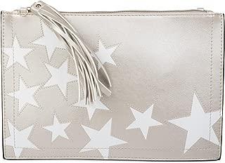 styleBREAKER bolso /«clutch/» vaquero con pi/ña de lentejuelas brillantes correa para el hombro y correa de mano bolso se/ñora 02012176 color:Azul claro
