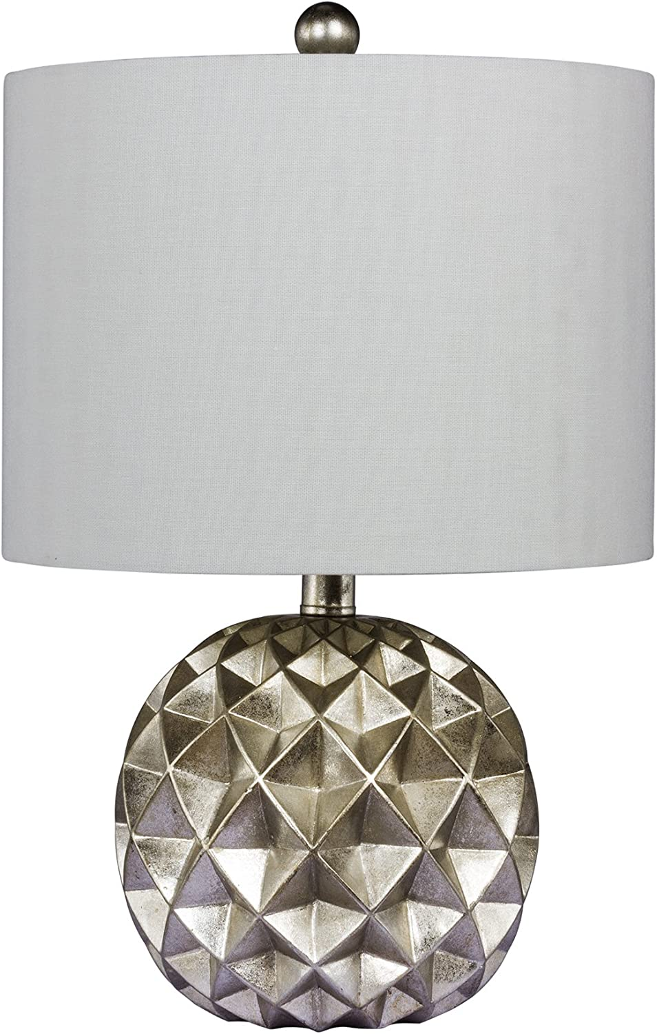Cory Martin W-6232 Fangio Lighting's  6232 24 in. Paper Lantern Fold Resin Table Lamp in a Silver Foil Finish, 24.00,