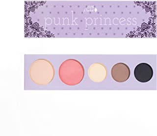 100% PURE Punk Princess Palette (Fruit Pigmented), Bold, Edgy Makeup Palette w/ 3 Eyeshadows, Blush, Face Highlighter, Natural, Vegan Makeup (Soft, Smokey, Shimmery Tones)