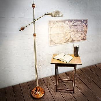 Relaxdays 10018506 Lampadaire avec Design style ancien vintage retro Lampe sur pied antique
