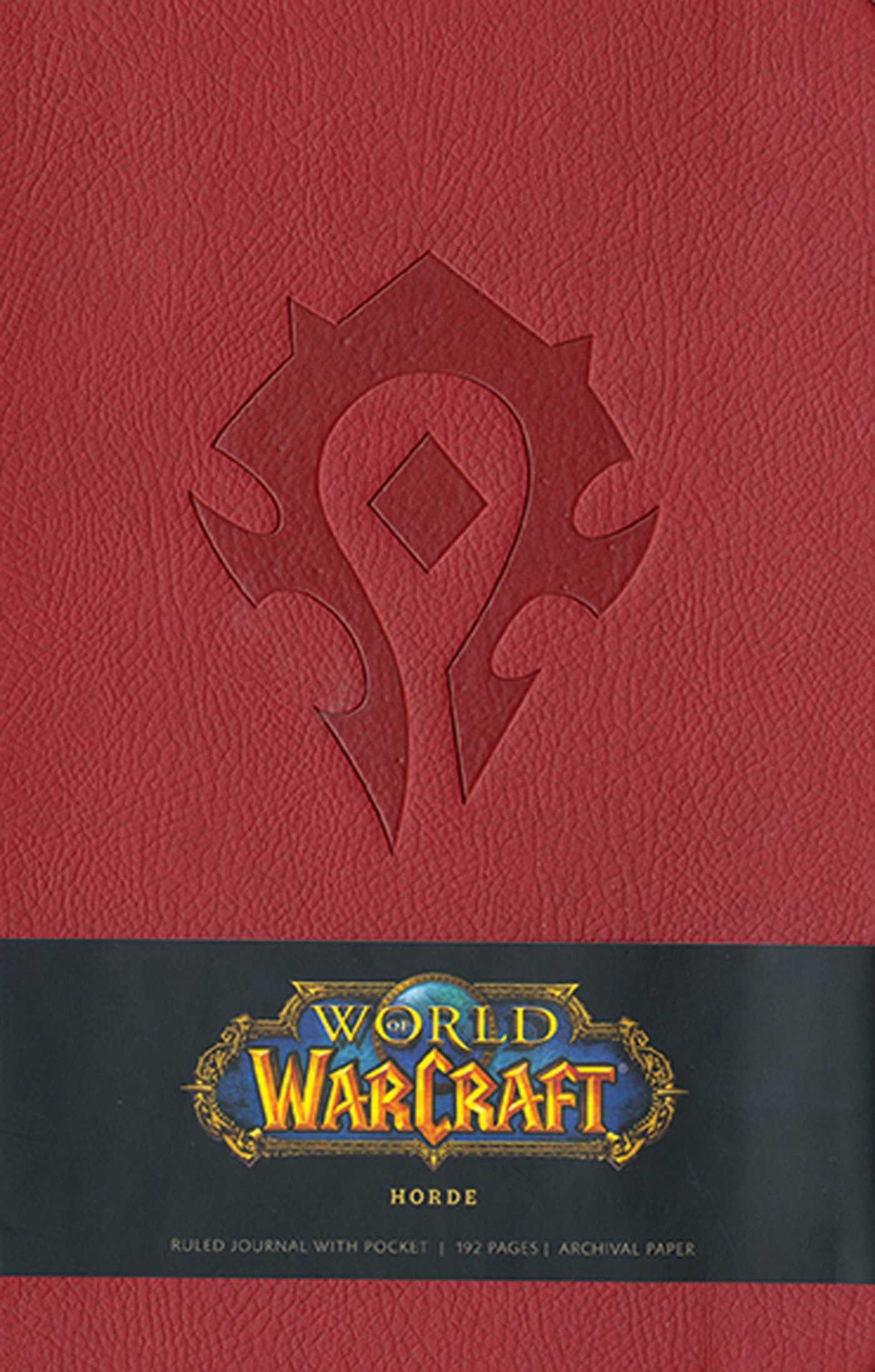 Image OfWORLD OF WARCRAFT HORDE HARDCOVER RULED JOURNAL (LARGE)