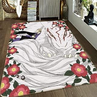 3D Natsume Yuujinchou 72 Japan Anime Game Non Slip Rug Room Mat Round Quality Elegant Carpet US AJ WALLPAPER Zoe (W60cmxH90cm【23.6