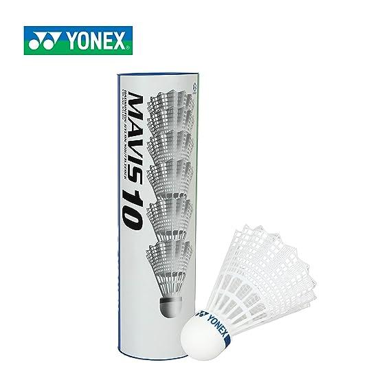 Yonex Mavis 10 Blue Cap Nylon Shuttlecock (White)