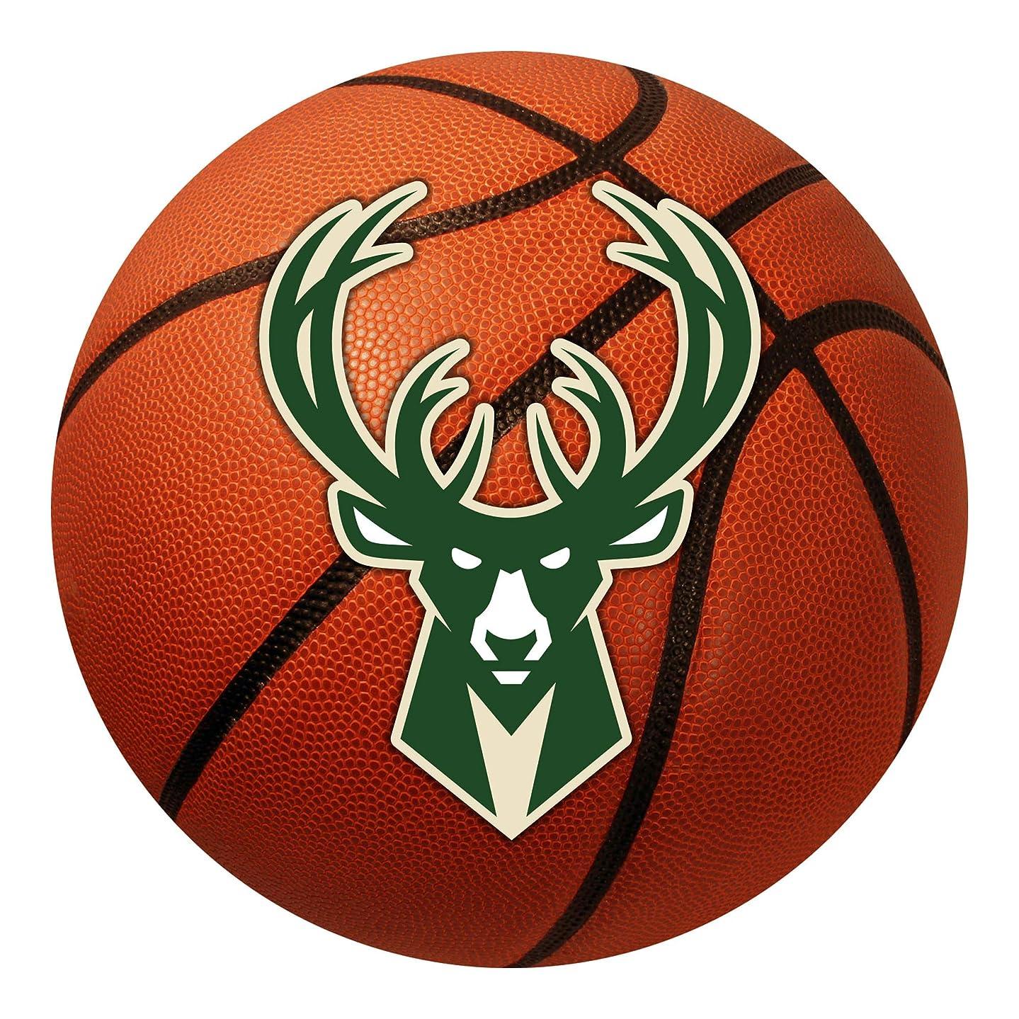 FANMATS NBA Milwaukee Bucks Nylon Face Basketball Rug