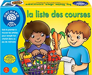 Orchard Toys Shopping List Memory Game (Bilingual French/English), 171