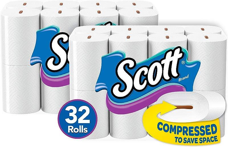 Scott 1000 Sheets Per Roll Toilet Paper 32 Rolls Bath Tissue