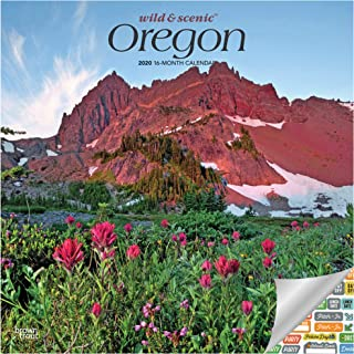 Oregon Wild and Scenic Calendar 2020 Set - Deluxe 2020 Oregon Wall Calendar with Over 100 Calendar Stickers (Oregon Nature Gifts, Office Supplies)