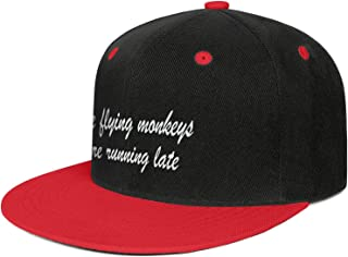 ZWEN The Flying Monkeys are Running Late Unisex Cool Snapback Flatbrim Hats Adjustable Dad Hat Sun Protection