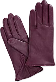 Charter Club Women's Cashmere Lined Leather Tech Gloves