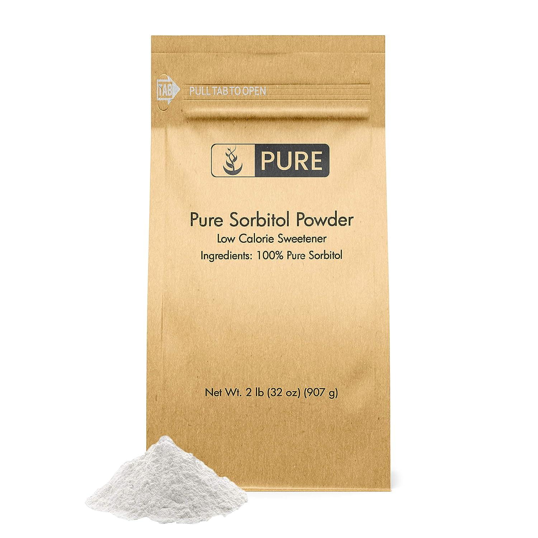 Pure Sorbitol Powder (2 lb) Sugar Substitute, Low-Calorie Sweetener, Thickening Agent