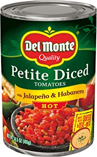 Del Monte Petite Diced Hot Tomatoes with Jalapeno & Habanero, 14.5 Ounce
