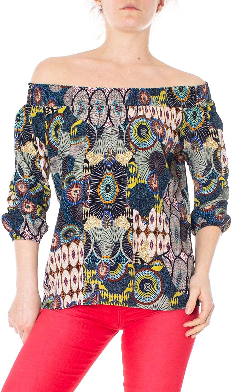 Desigual Women's 19SWBW77MULTI Multicolor Viscose Blouse