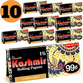 Kashmir Unbleached 1 1/2 Rolling Papers-Made in The USA (10)