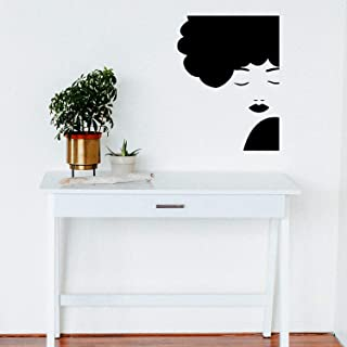 Vinyl Wall Art Decal - Side Face Silhouette - 29