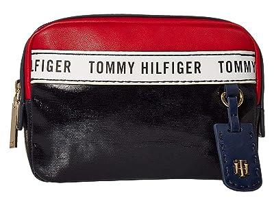 Tommy Hilfiger Julia Convertible Belt Bag (Navy/Red/White) Handbags