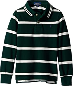 Striped Cotton Mesh Polo Shirt (Toddler)