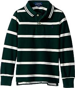 Striped Cotton Mesh Polo Shirt (Toddler)