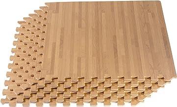 Forest Floor 3/8 Inch Thick Printed Foam Tiles , Premium Wood Grain Interlocking Foam Floor Mats, Anti-Fatigue Flooring