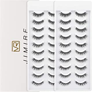JIMIRE False Eyelashes Natural Lashes 20 Pairs Fake Eyelashes Multipack