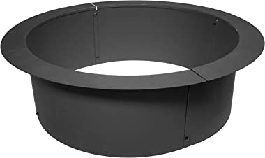 "TITAN GREAT OUTDOORS 46"" Diameter Steel Fire Pit Liner Ring Heavy Duty DIY In-Ground Outdoor Build Your Own Bonfire"