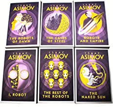 Isaac Asimov Robot Series 6 Books Collection Set (I, Robot, The Robots of Dawn, The Naked Sun, The Rest Of The Robots, The...