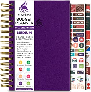 Clever Fox Budget Planner & Monthly Bill Organizer with Pockets. Expense Tracker Notebook, Budgeting Journal and Financial...